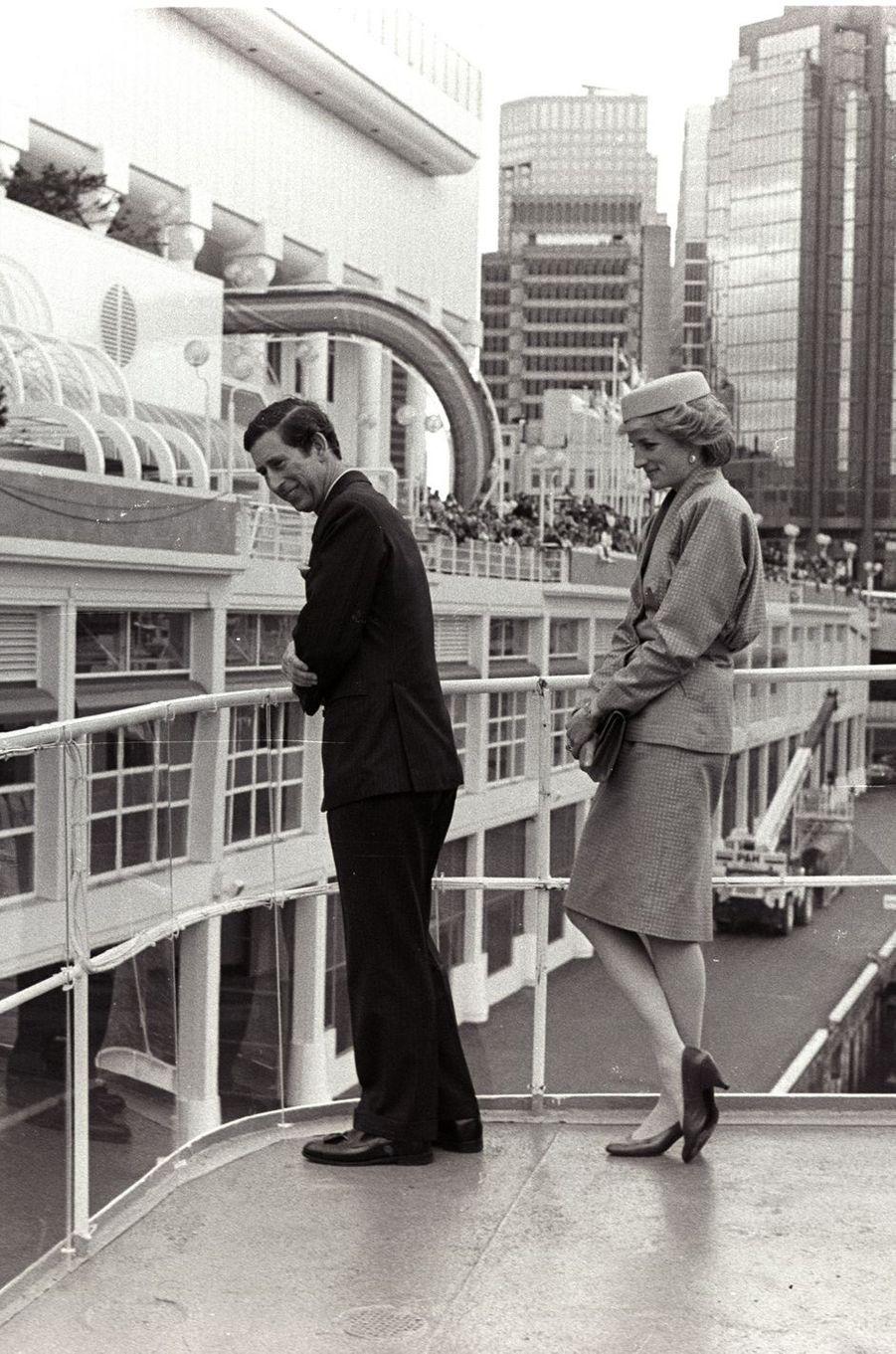 Le prince Charles, avec la princesse Diana, à Vancouver le 1er mai 1986