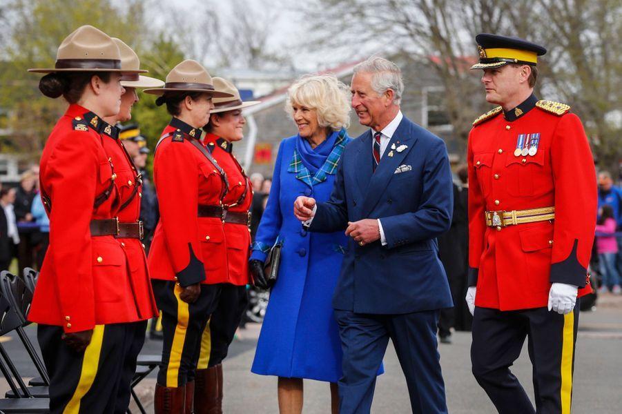 Le prince Charles avec la duchesse de Cornouailles Camilla à Pictou, le 19 mai 2014