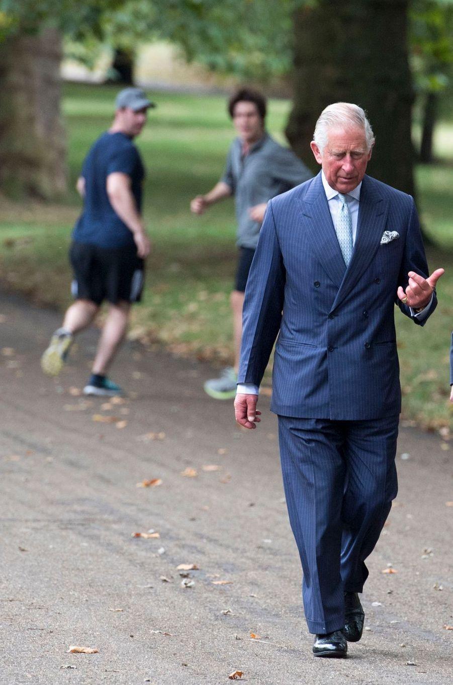 Le prince Charles à Green Park à Londres, le 6 septembre 2016