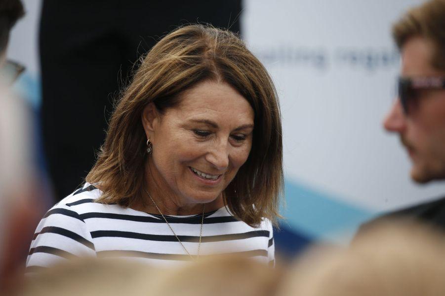 Carole Middleton à Cowes sur l'île de Wight le 8 août 2019