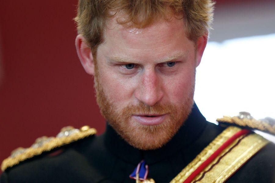 Le prince Harry à l'école royale militaire de Douvres, le 28 septembre 2015