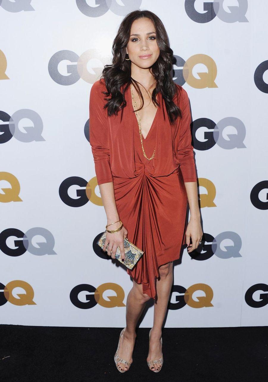 Meghan Markle lors d'une fête organisée par le magazine «GQ» au Chateau Marmont à Los Angeles en novembre 2012.