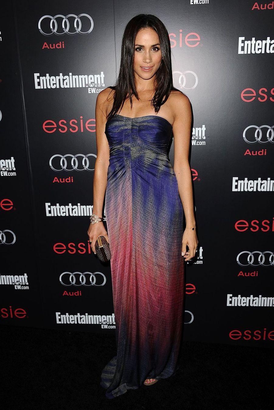Meghan Markle lors d'une fête organisée par le magazine «Entertainment Weekly» au Chateau Marmont à Los Angeles en janvier 2013.