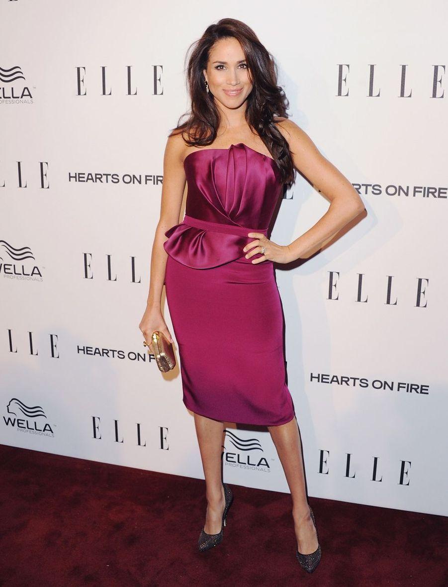 Meghan Markle lors d'un événement organisé par le magazine «ELLE» à Los Angeles en janvier 2013.