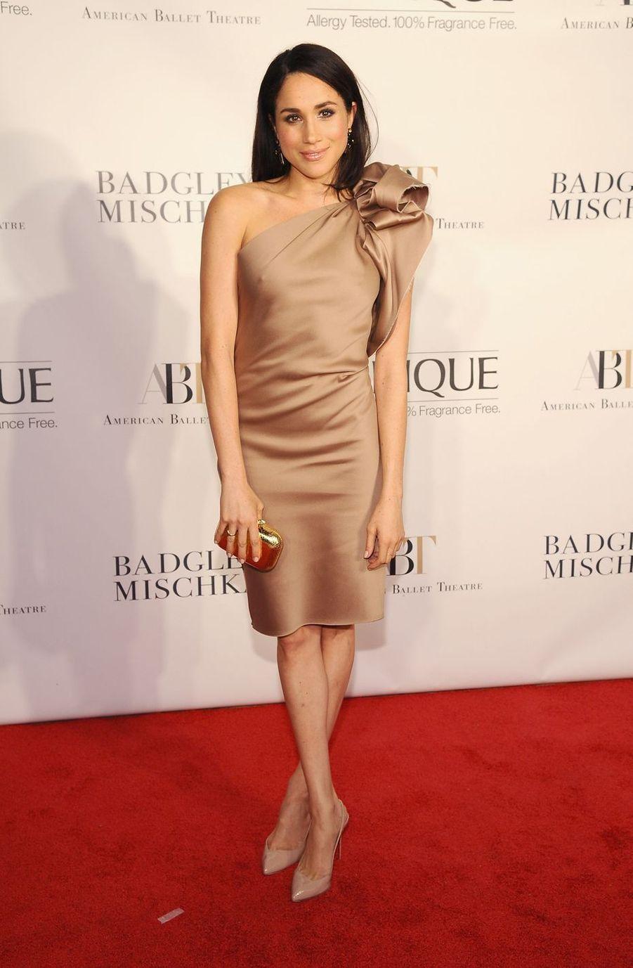 Meghan Markle à l'ouverture de saison de l'American Ballet Theatre au Lincoln Center à New York en octobre 2013.