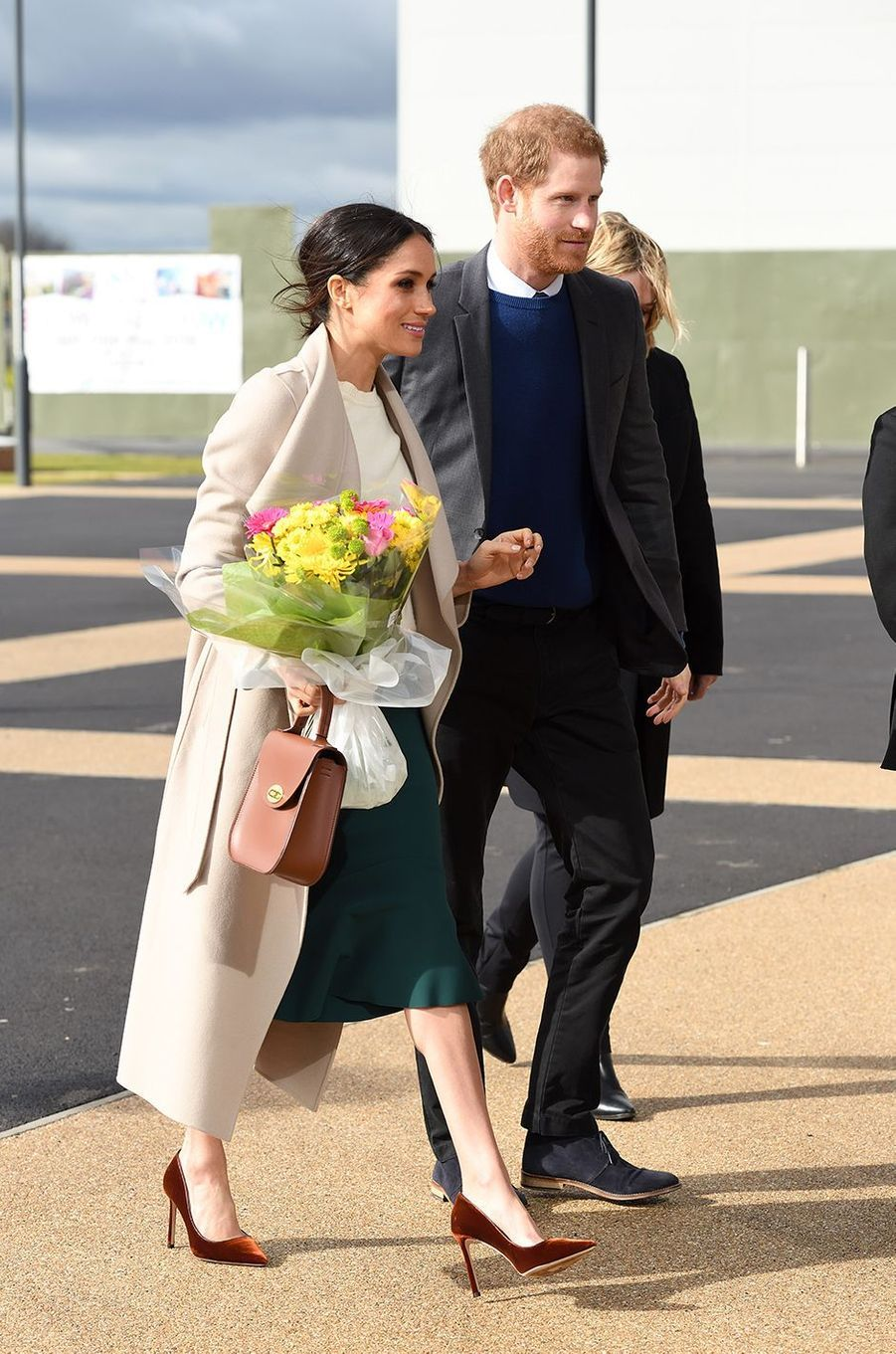 Meghan Markle avec le prince Harry lors d'une visite en Irlande du Nord en mars 2018