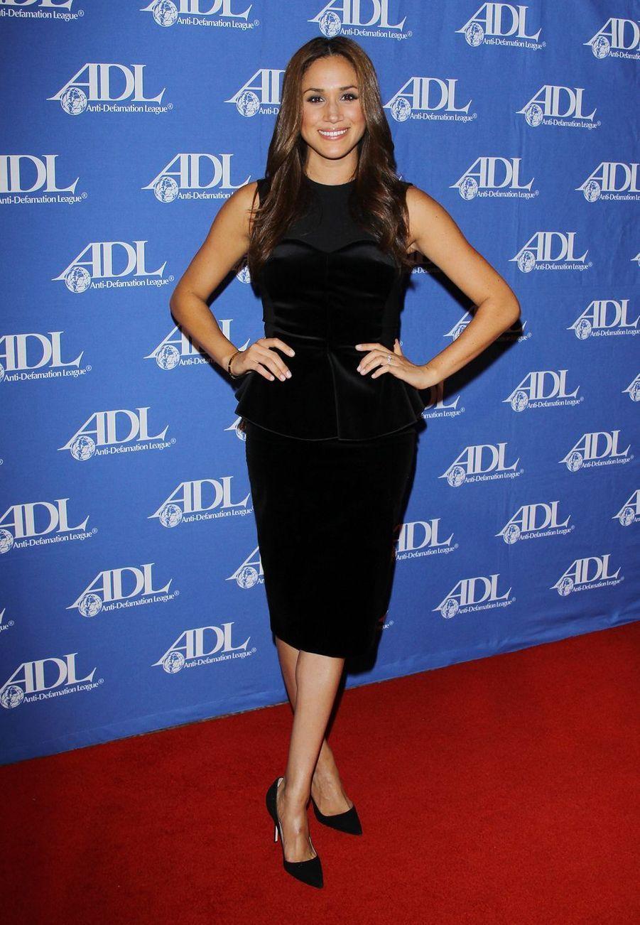 Meghan Markle au dîner des Anti-Defamation League Entertainment Industry Awards au Beverly Hilton à Los Angeles en octobre 2011.