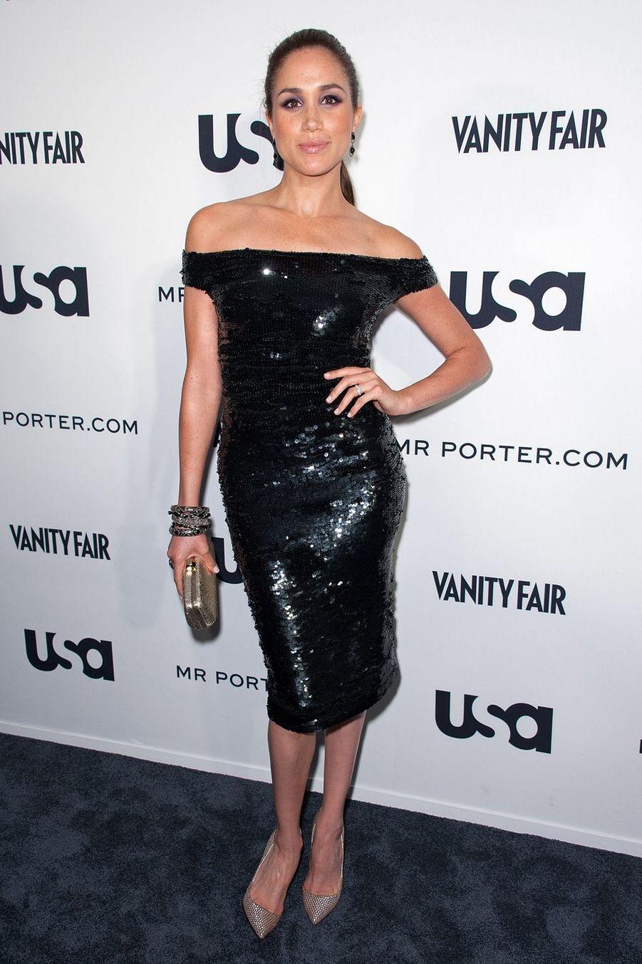 Meghan Markle lors d'un événement pour la série «Suits» à New York en juin 2012.