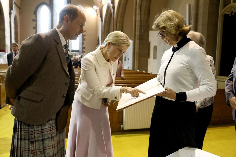 La comtesse Sophie de Wessex et le prince Edward à Forfar, le 1er juillet 2019