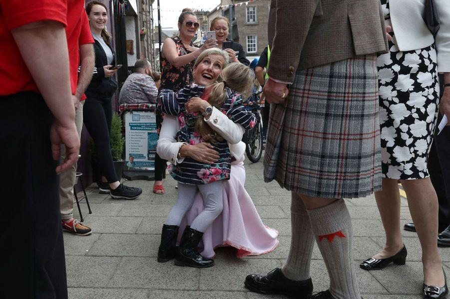 La comtesse Sophie de Wessex en visite à Forfar, le 1er juillet 2019