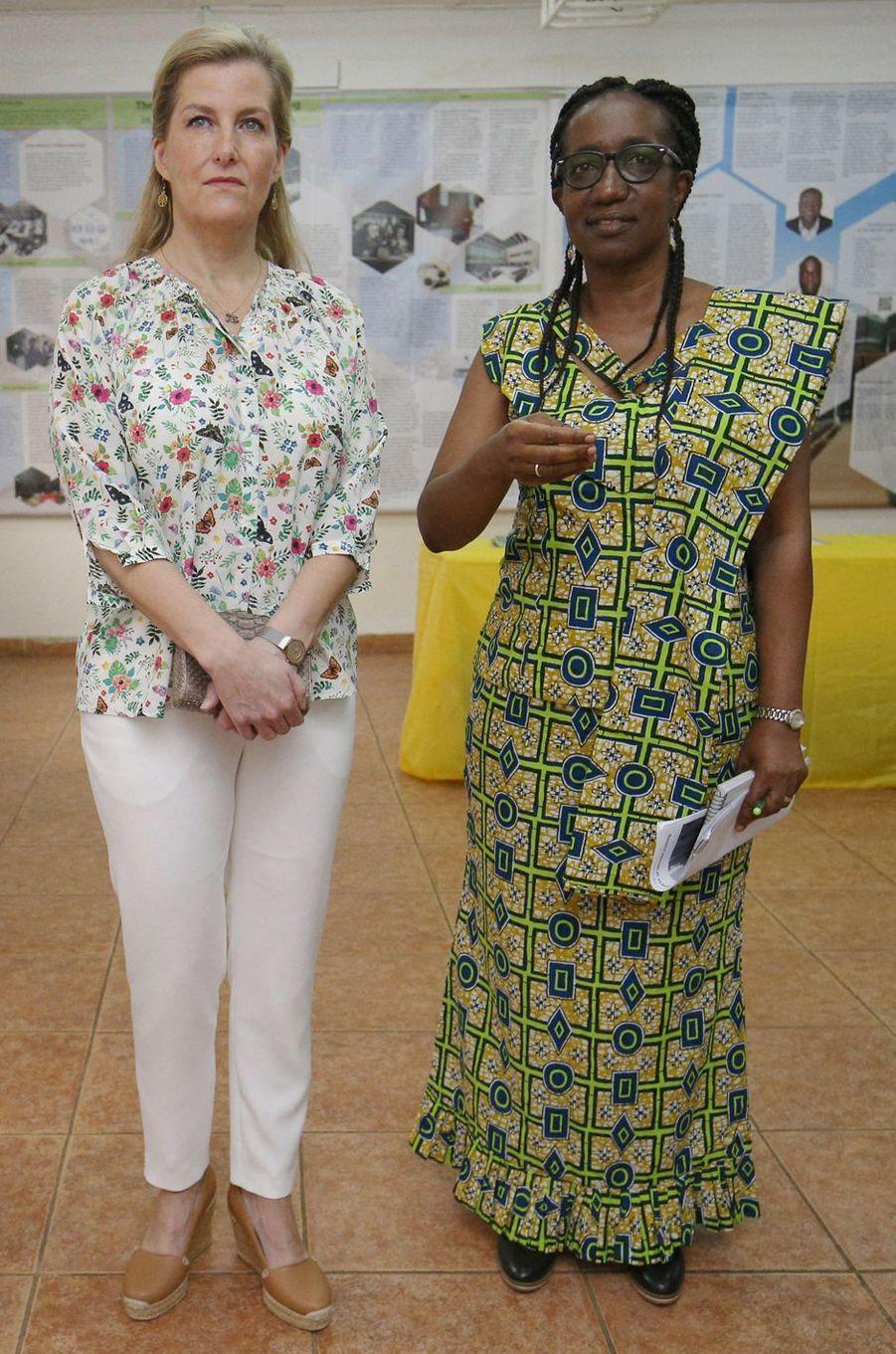 La comtesse Sophie de Wessex à Freetown en Sierra Leone, le 22 janvier 2020