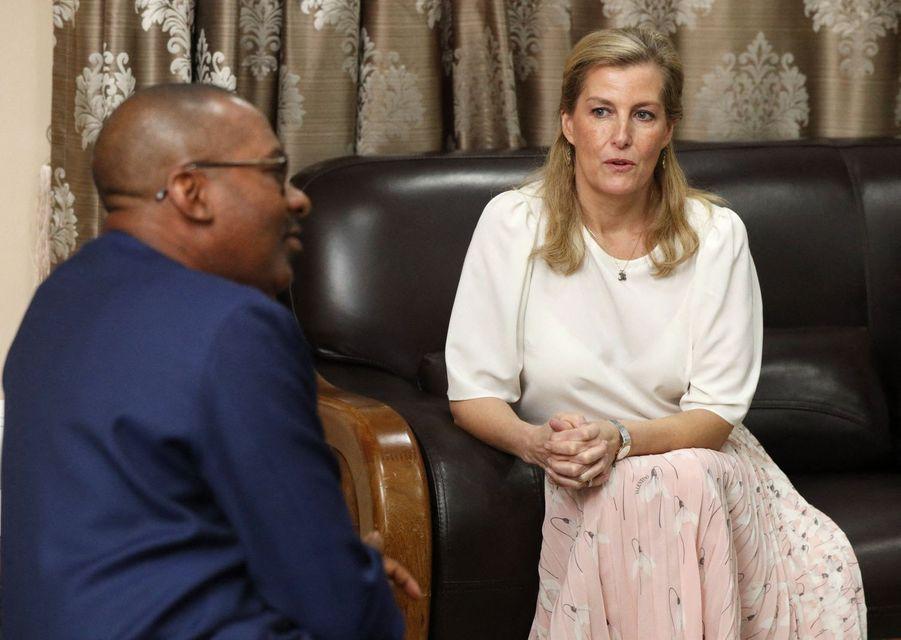 La comtesse Sophie de Wessex, le 22 janvier 2020 à Freetown