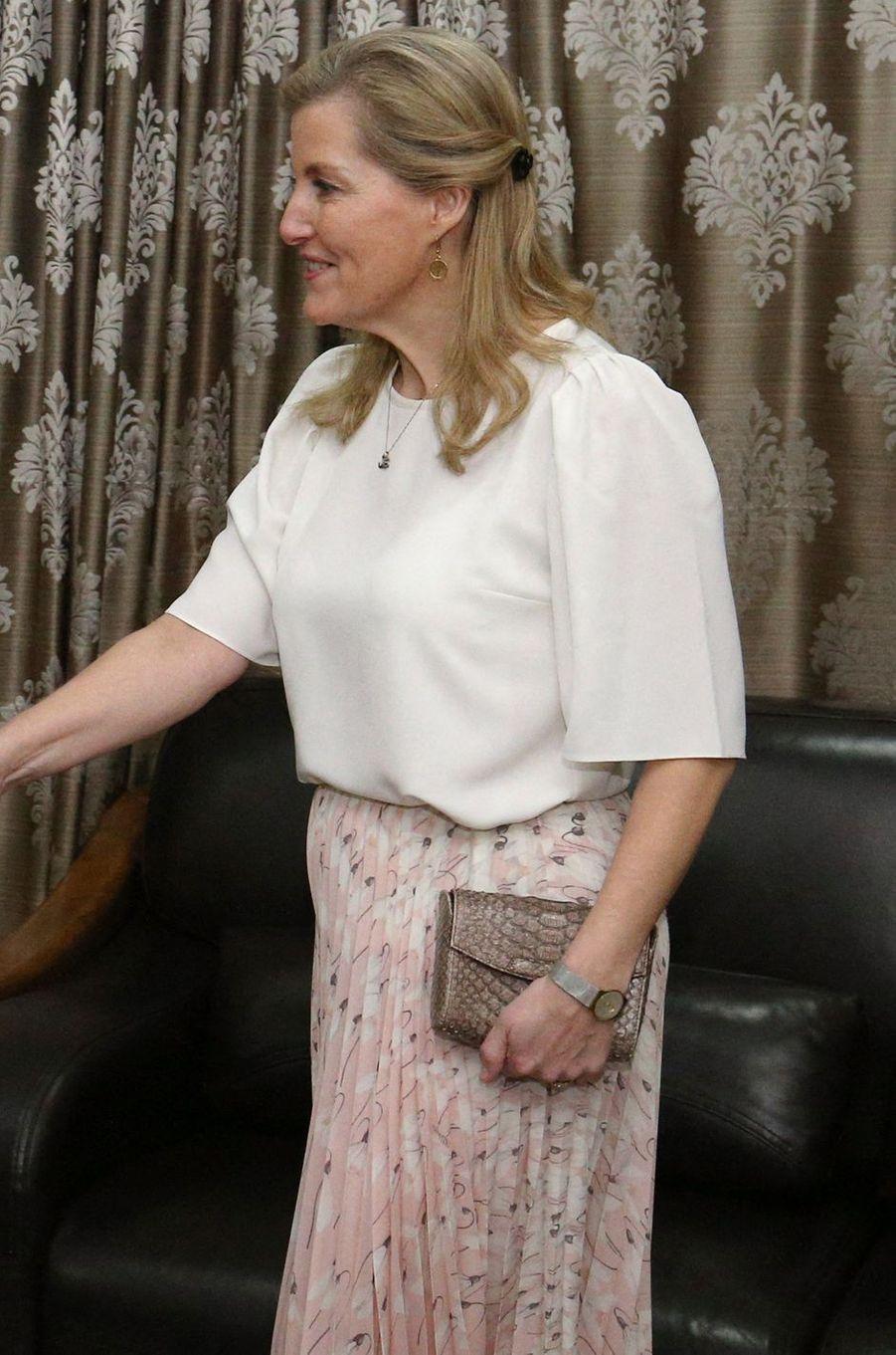 La comtesse Sophie de Wessex à Freetown, le 22 janvier 2020