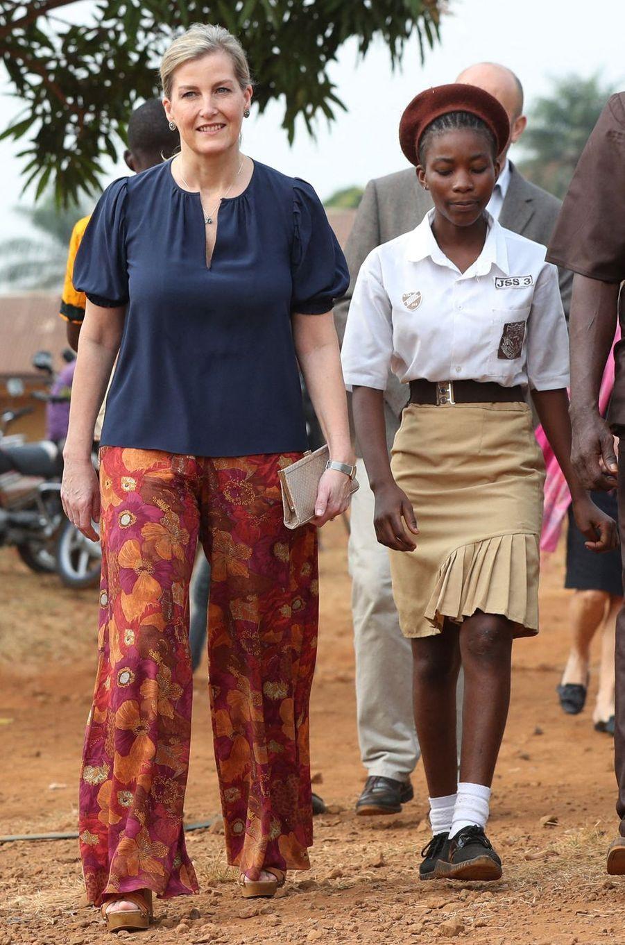 La comtesse Sophie de Wessex à Freetown en Sierra Leone, le 23 janvier 2020