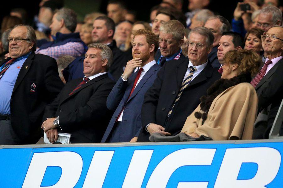 Le prince Harry au match France-Canada à Milton Keynes, le 1er octobre 2015