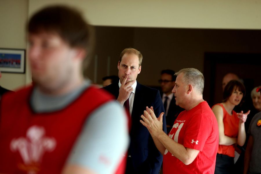 Le prince William au Centre national du sport du Pays de Galles à Cardiff, le 1er octobre 2015