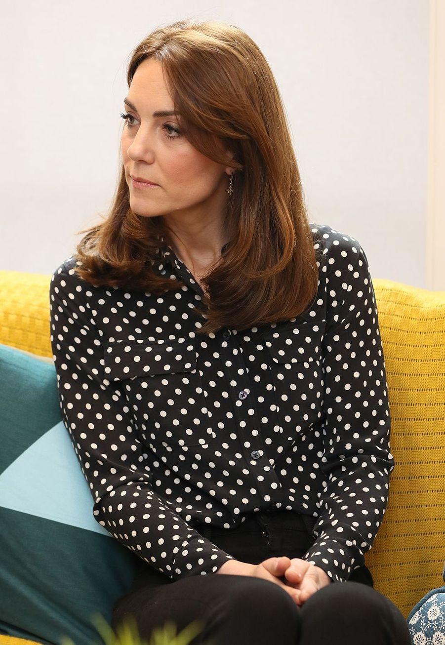 Kate Middleton et le prince Williamse rendent dans un organisme de bienfaisance en santé mentale à Dublin le 4 mars 2020.
