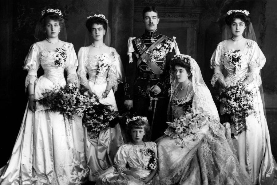 La princesse Margaret de Connaught (petite-fille de la reine Victoria) et le prince Gustaf Adolf de Suède (futur roi Gustaf VI Adolf), le 15 juin 1905