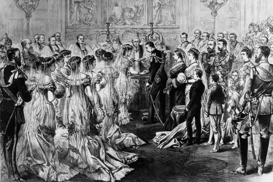 Mariage du prince Arthur, duc de Connaught (fils de la reine Victoria) et de la princesse Louise Margaret de Prusse, le 22 mars 1879