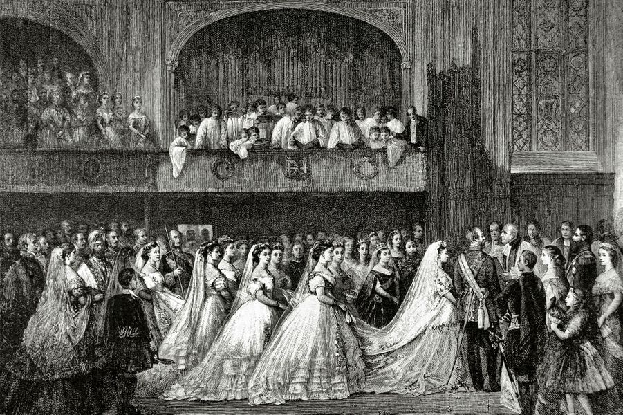 Mariage de la princesse Helena (fille de la reine Victoria) et de Christian de Schleswig-Holstein, le 5 juillet 1866