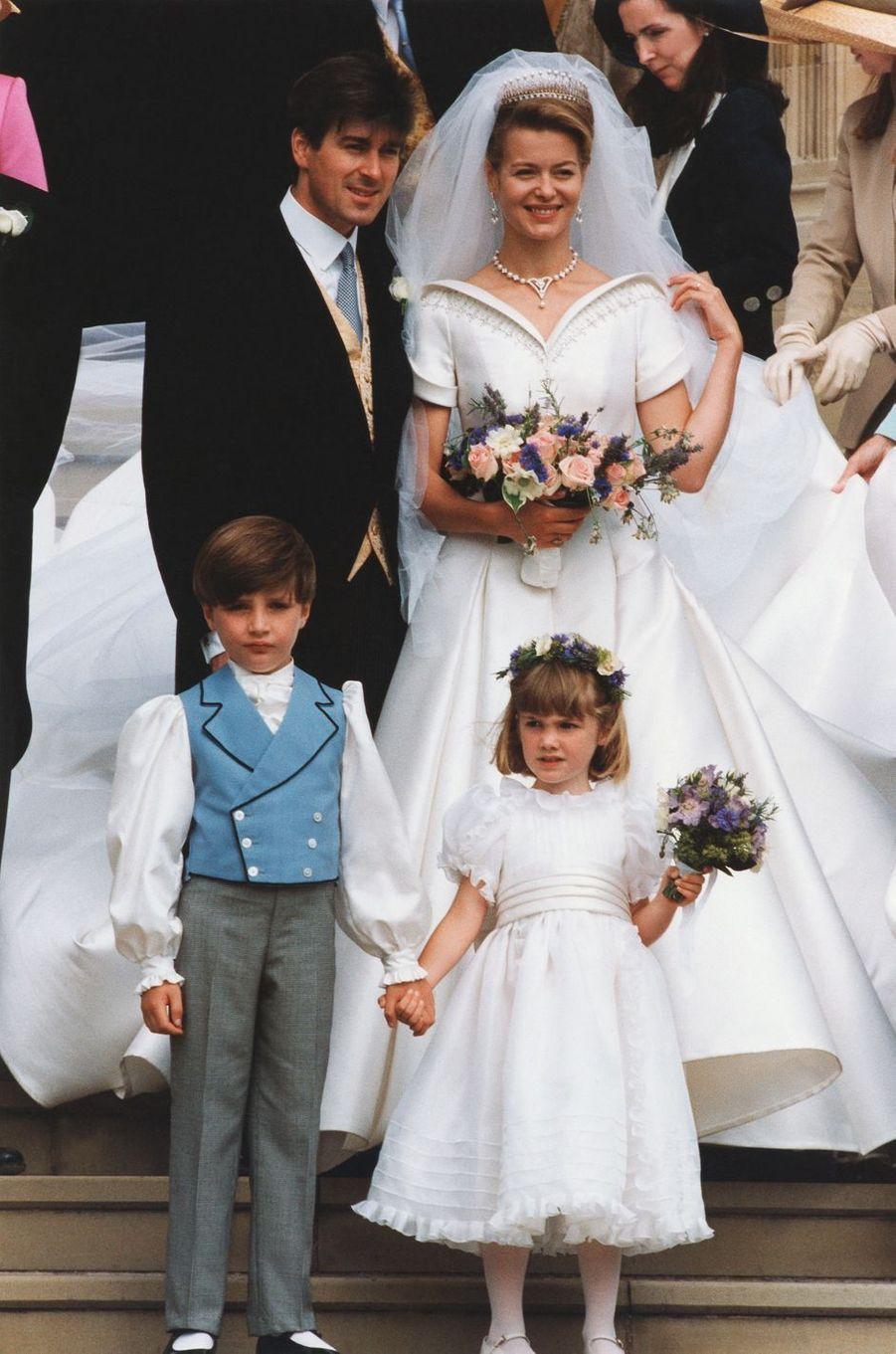 Lady Helen Windsor (fille du duc de Kent, cousin de la reine Elizabeth II) et Timothy Taylor, le 18 juillet 1992