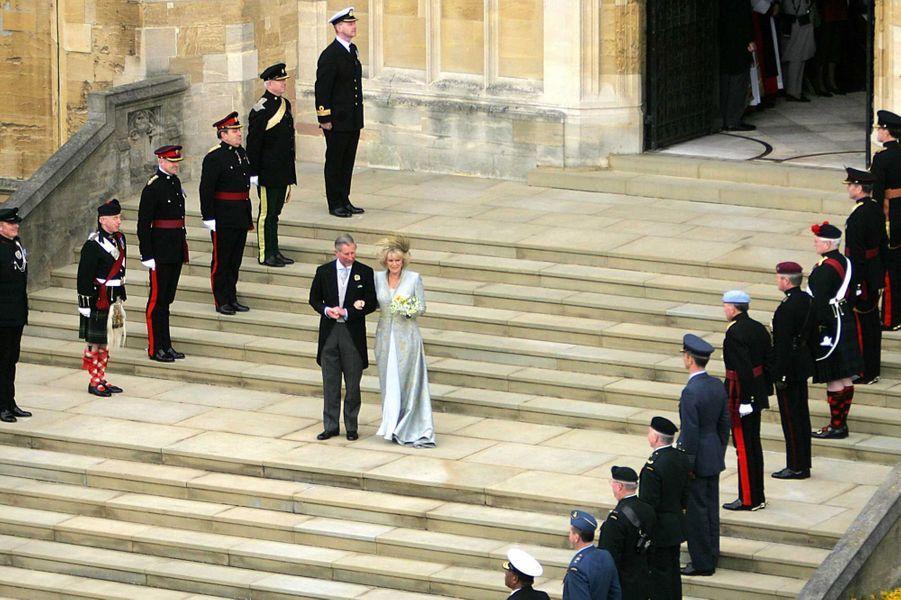 Le prince Charles et Camilla Parker-Bowles, le 9 mai 2005
