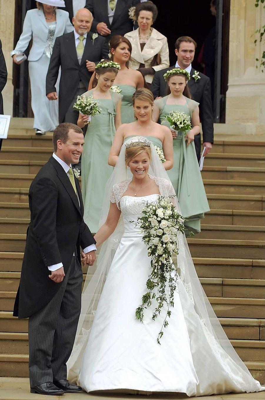 Peter Phillips (le fils de la princesse Anne) et Autumn Kelly, le 17 mai 2008