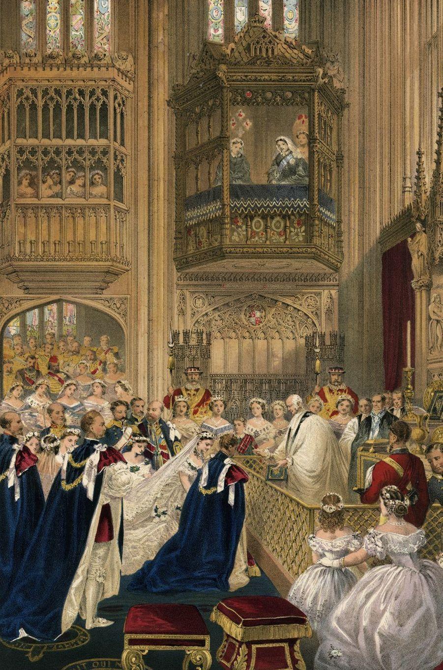 Mariage du prince Albert (fils de la reine Victoria, futur roi Edward VII) et de la princesse Alexandra de Danemark, le 10 mars 1863