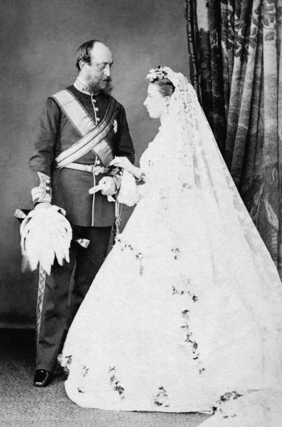 La princesse Helena (fille de la reine Victoria) et Christian de Schleswig-Holstein, le 5 juillet 1866