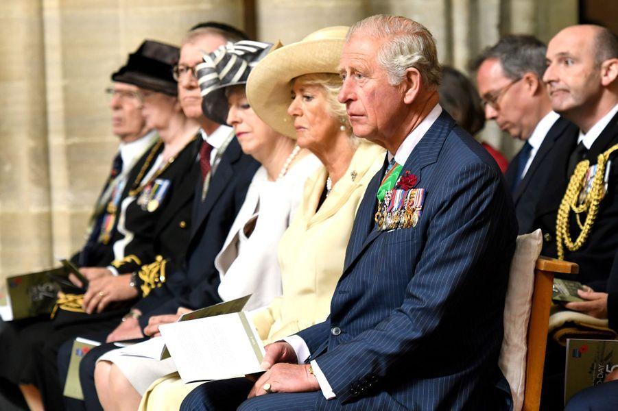 La duchesse de Cornouailles Camilla et le prince Charles à Bayeux, le 6 juin 2019