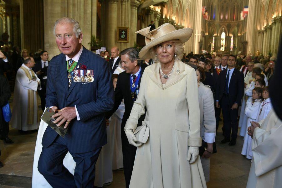 Le prince de Galles et la duchesse de Cornouailles Camilla à Bayeux, le 6 juin 2019