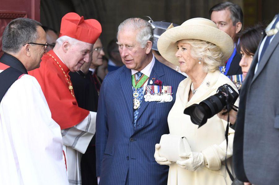 Le prince Charles et la duchesse de Cornouailles Camilla à Bayeux, le 6 juin 2019