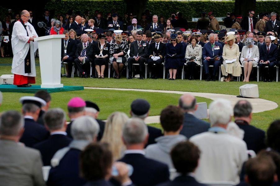 Le prince de Galles et la duchesse de Cornouailles à Bayeux, le 6 juin 2019