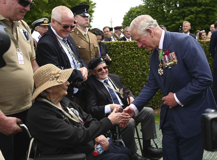 Le prince Charles à Bayeux, le 6 juin 2019