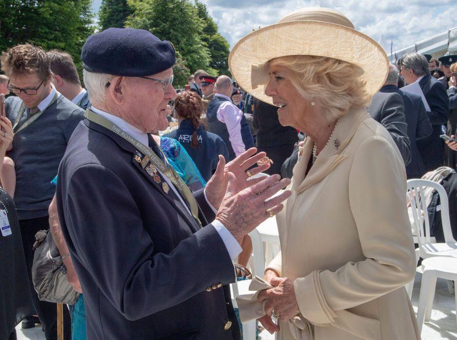 La duchesse de Cornouailles Camilla à Bayeux, le 6 juin 2019