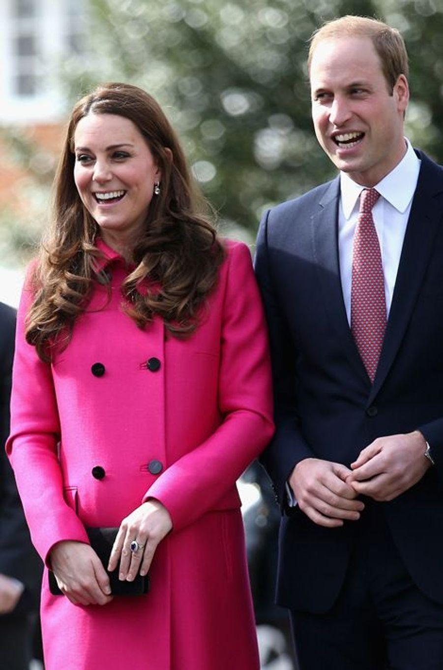 Kate et le prince William à Gipsy Hill au sud de Londres, le 27 mars 2015