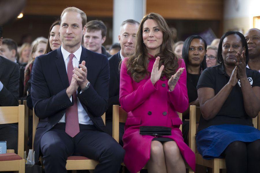 Kate et le prince William assistent à un spectacle des jeunes de XLP à Gipsy Hill, le 27 mars 2015
