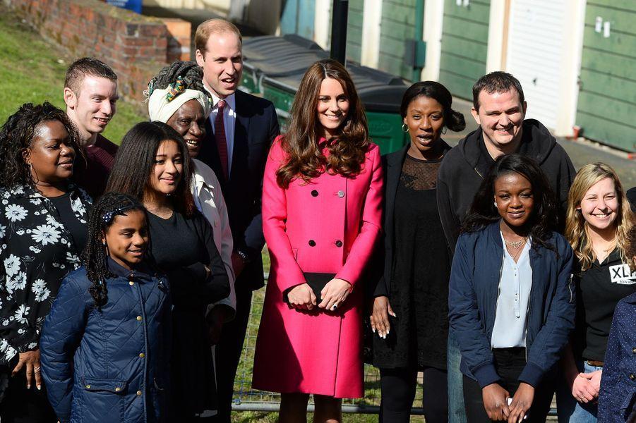 Kate et le prince William avec des jeunes de XLP au sud de Londres, le 27 mars 2015