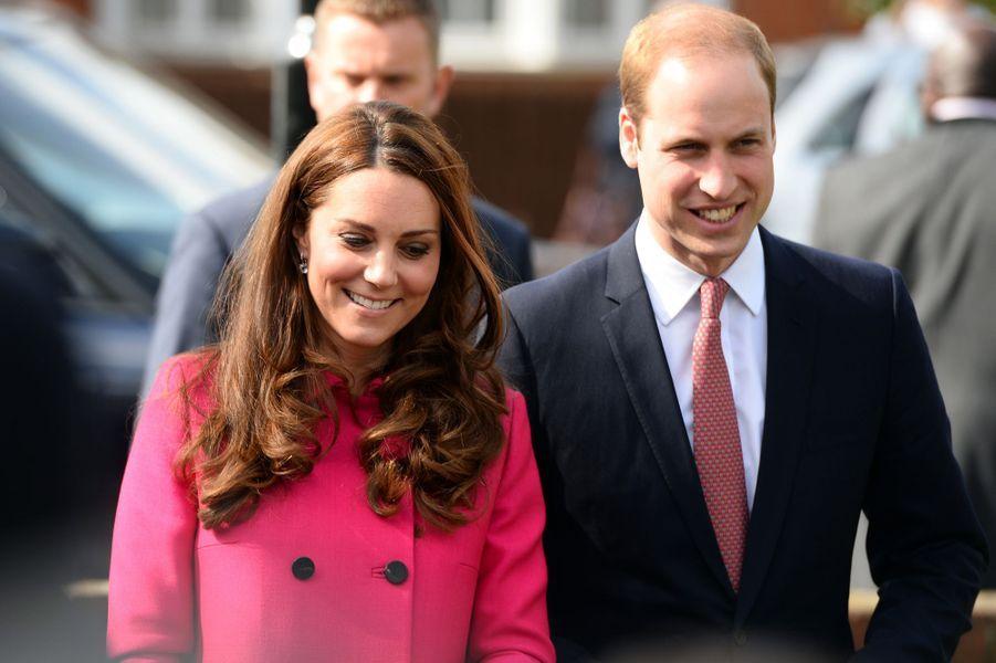 Kate et William à Gipsy Hill au sud de Londres, le 27 mars 2015