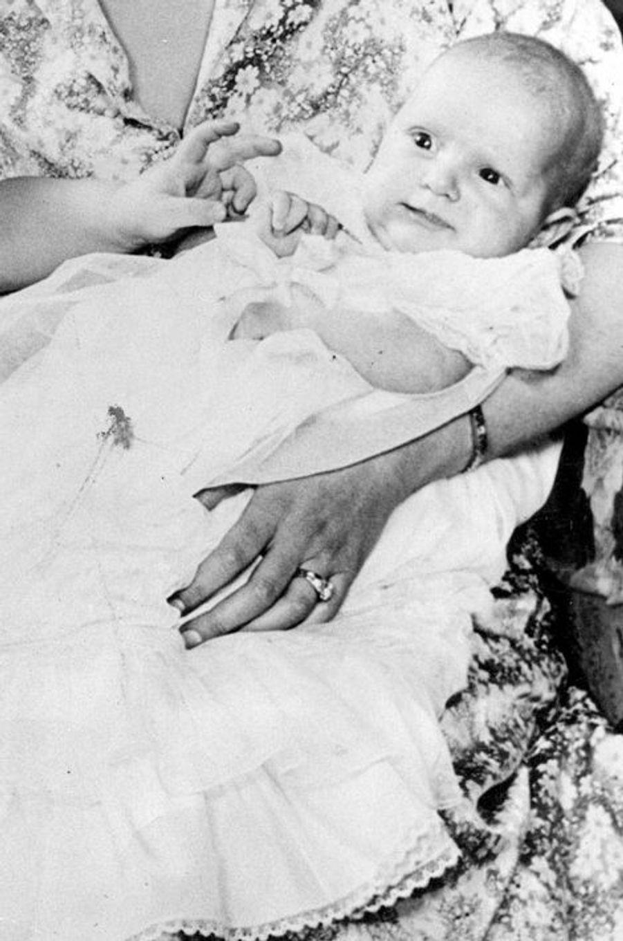 La princesse Anne à 4 mois et demi, le 9 janvier 1951
