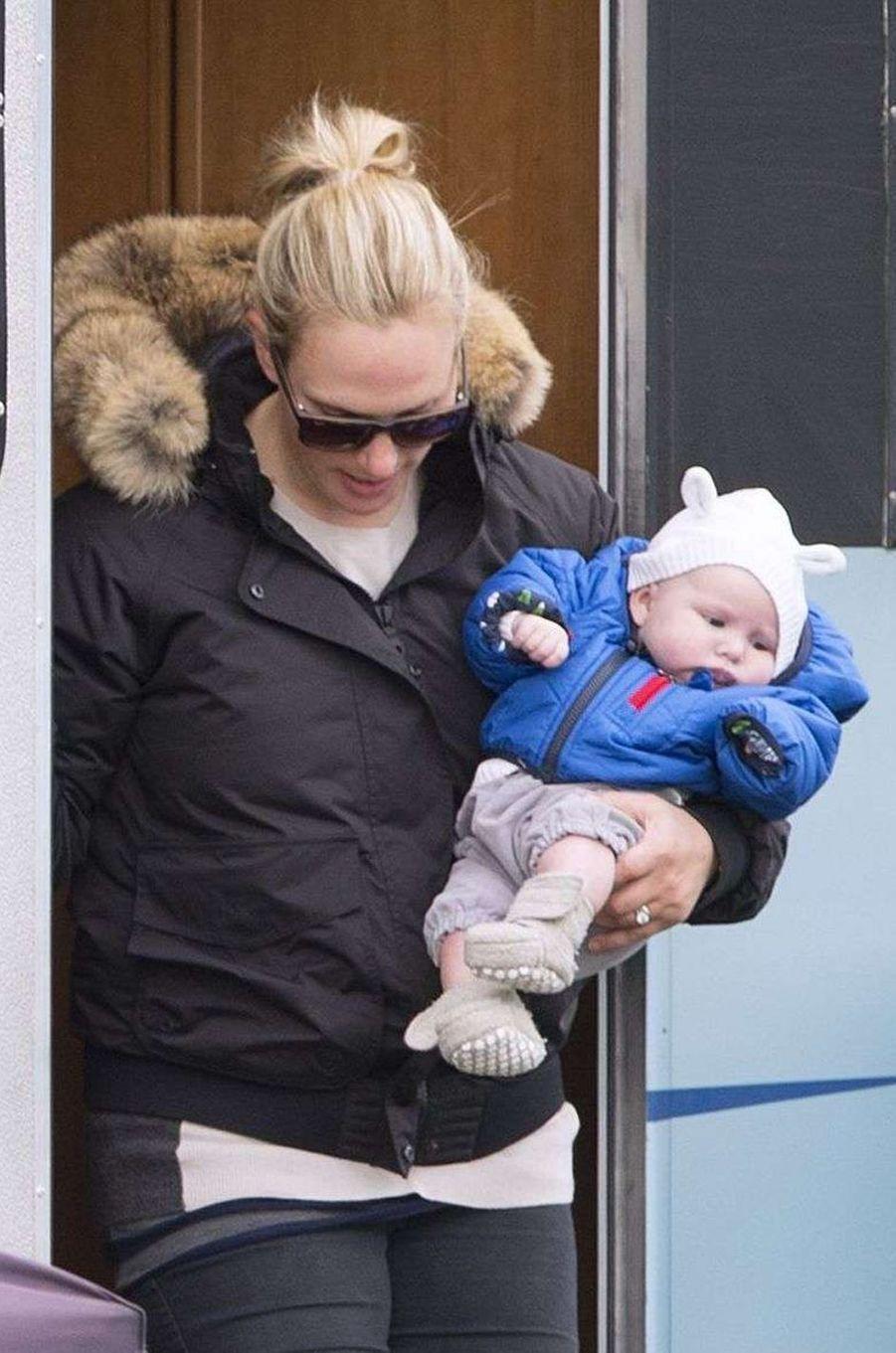 Mia Tindall, la fille aînée de Zara Phillips et Mike Tindall, le 19 avril 2014