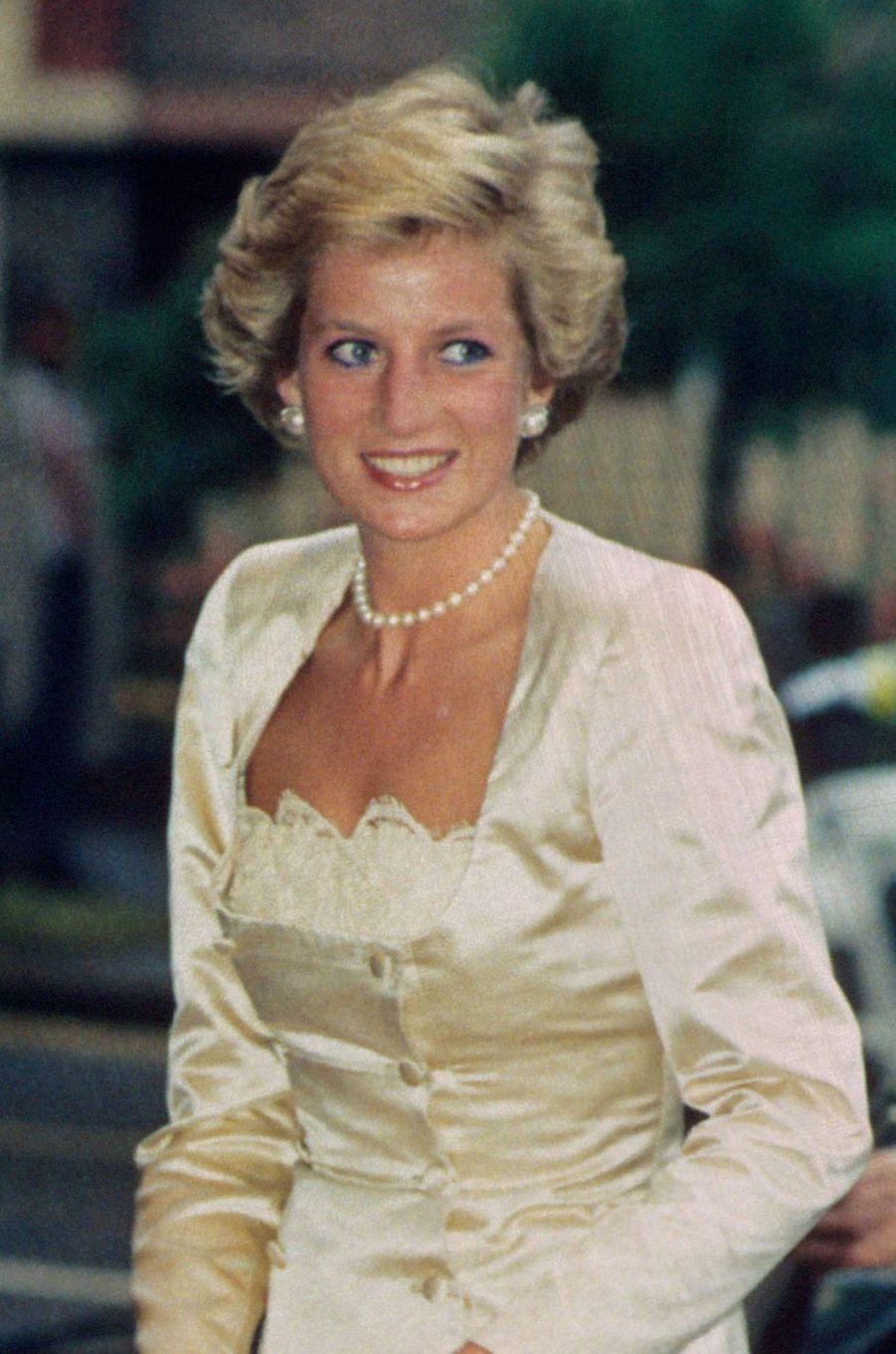 Lady Diana le 5 juin 1990