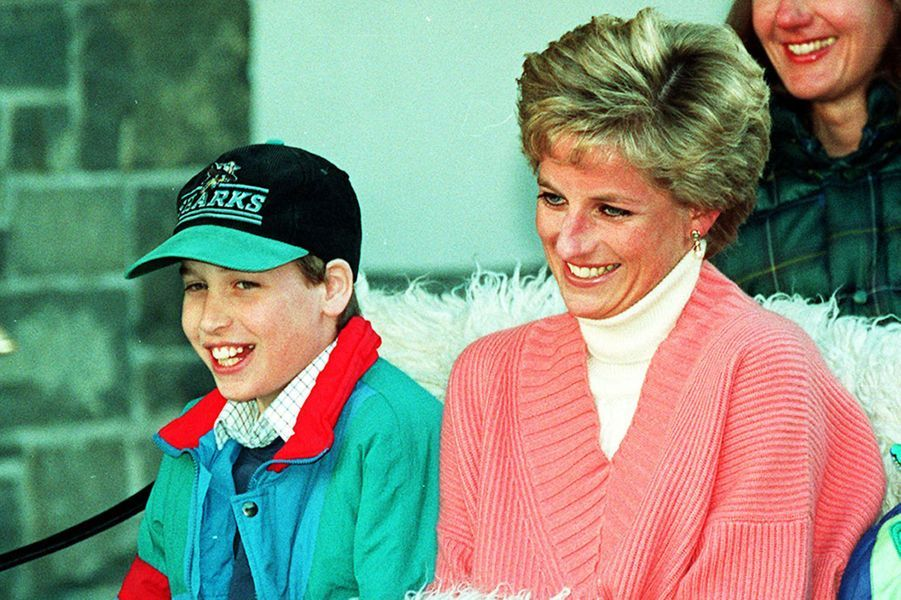 Lady Diana avec le prince William le 27 mars 1994