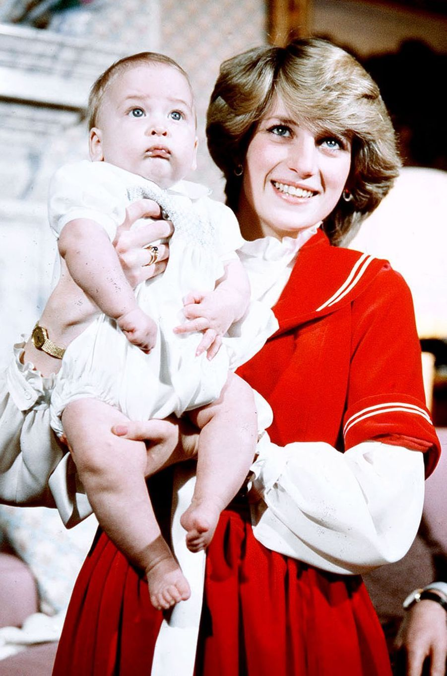 Lady Diana et le prince William le 22 décembre 1982