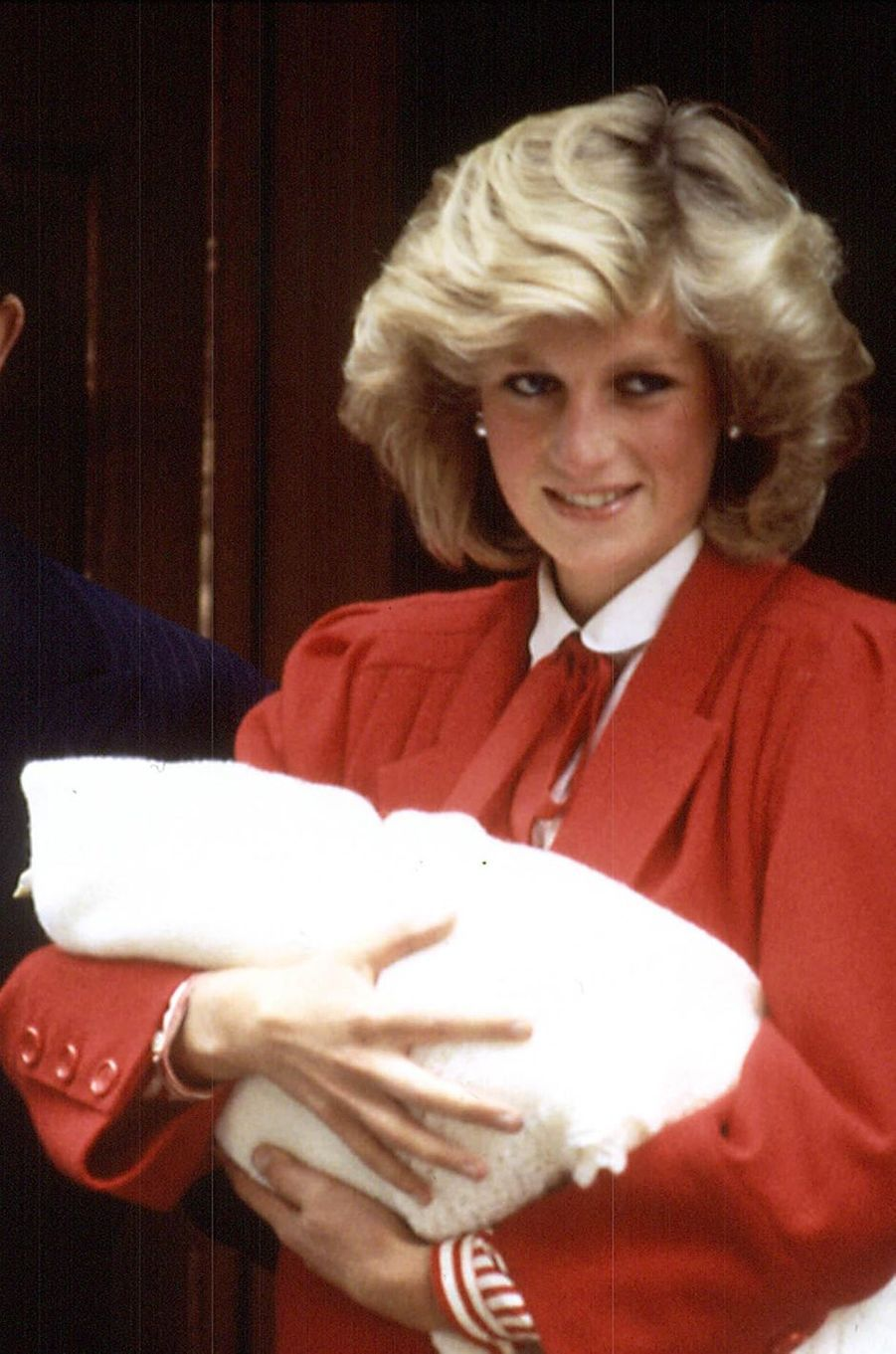 Lady Diana avec le prince Harry le 16 septembre 1984