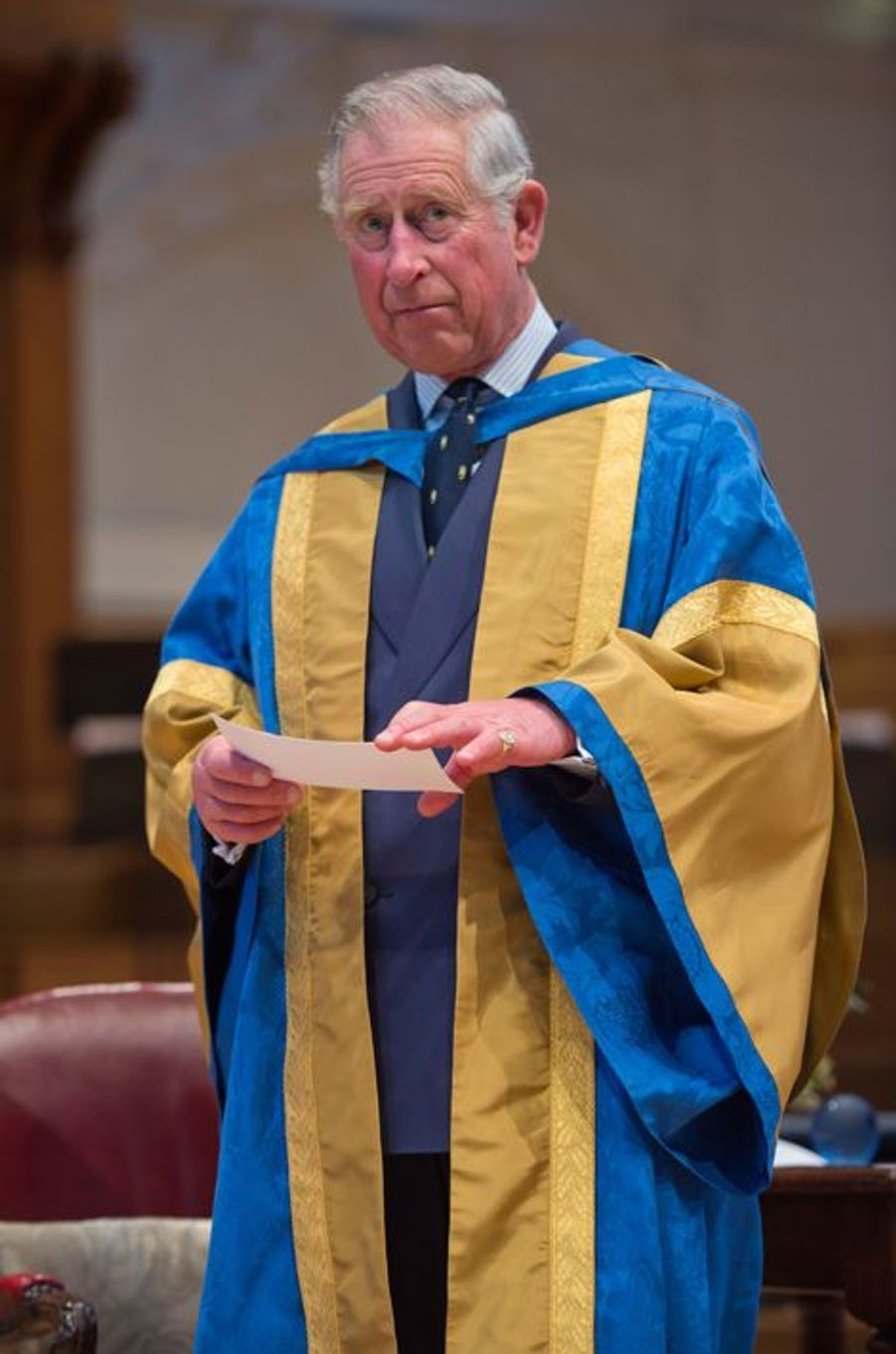 Le prince Charles au Royal College of Music à Londres, le 12 mars 2015