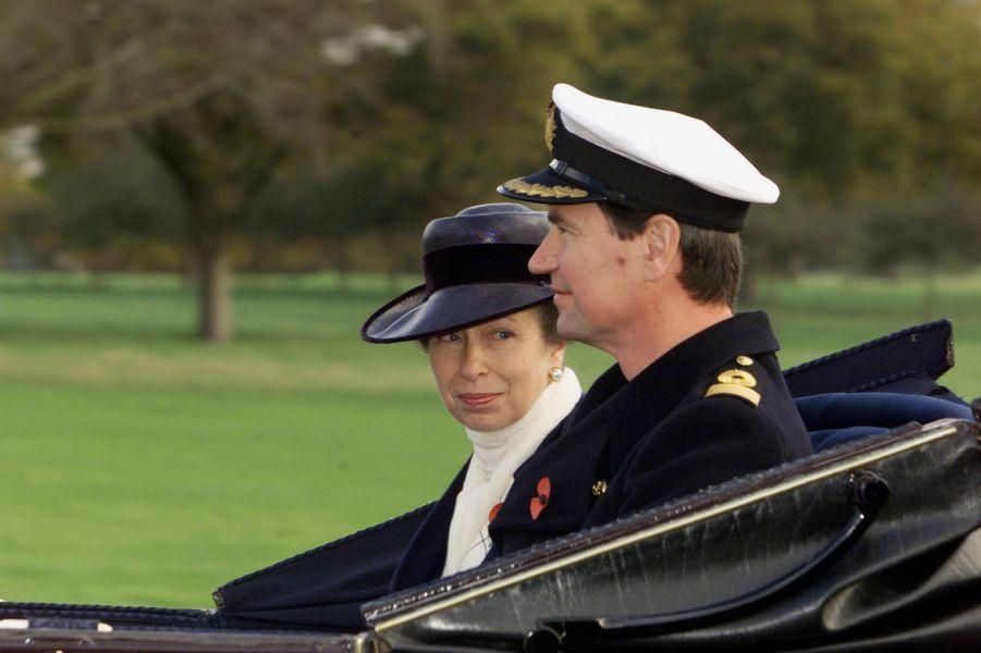 Timothy Laurence et la princesse Anne, le 6 novembre 2001