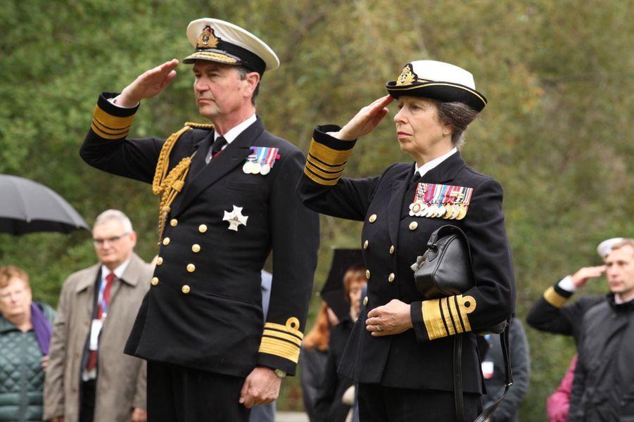 Timothy Laurence et la princesse Anne, le 31 août 2016