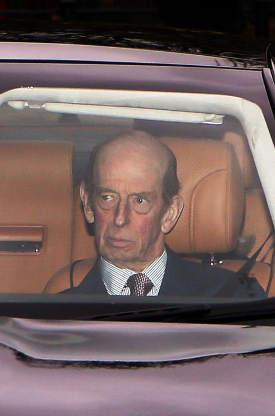 Le duc Edward de Kent à Londres, le 16 décembre 2015