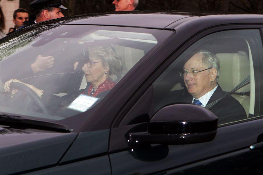 Le duc Richard et la duchesse Birgitte de Gloucester à Londres, le 16 décembre 2015